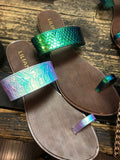 Holographic Mermaid Goddess Sandals