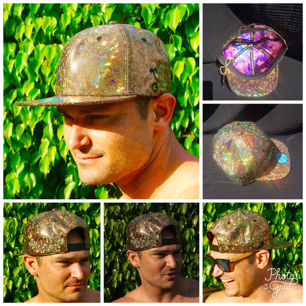 Grass Roots - Cosmic Holographic Snap Back Hats