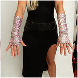 Cosmic Holographic Armies/Fingerless Gloves (More colors and patterns!)