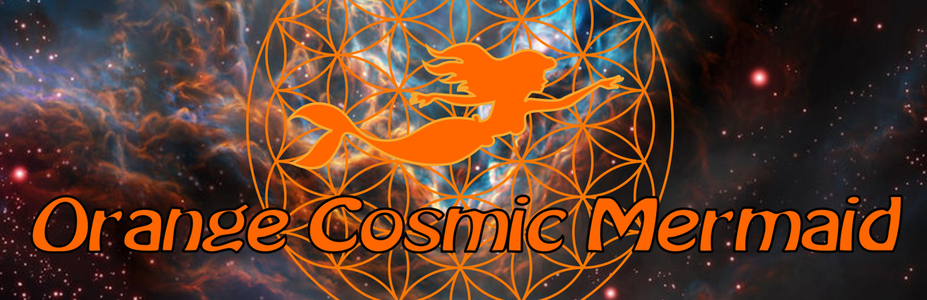 Orange Cosmic Mermaid