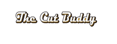cut buddy word logo