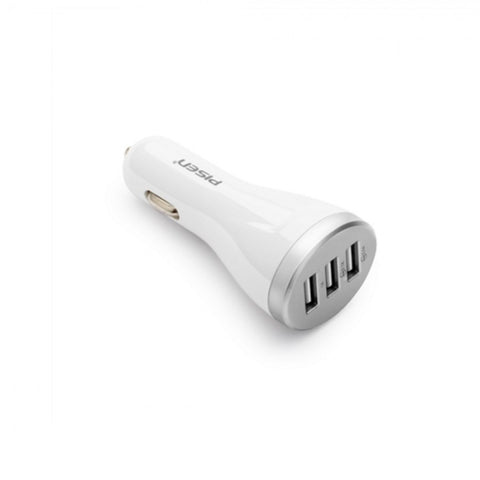 Pisen High Quality 3 Port Car USB Charger For Phone & Tablet