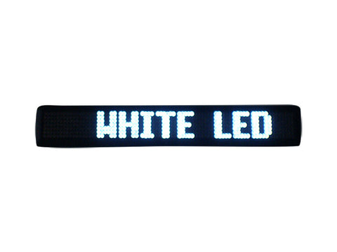 White Programmable LED Message Sign