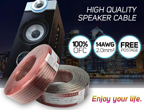 14AWG Gauge 2.0mm² High Quality OFC Speaker Cable