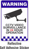 CCTV Surveillance Camera Warning Sign Stickers