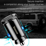 Baseus Grain Mini Dual USB Smart Car Charger
