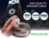 17AWG Gauge 1.0mm² High Quality OFC Speaker Cable