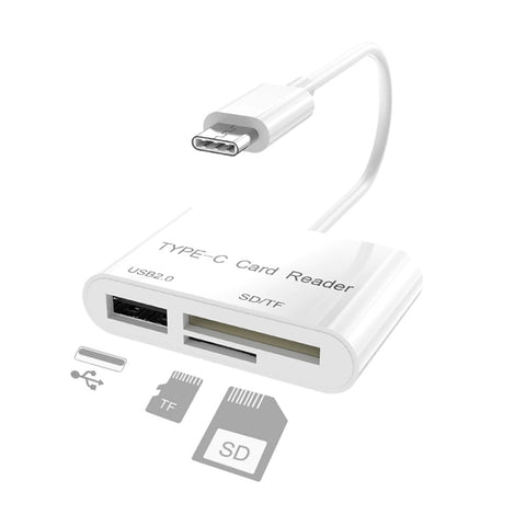 Type-C 3in1 USB Card Reader Hub for PC Pros