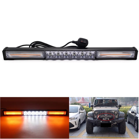 58w 2x COB 6x LED Light Bar