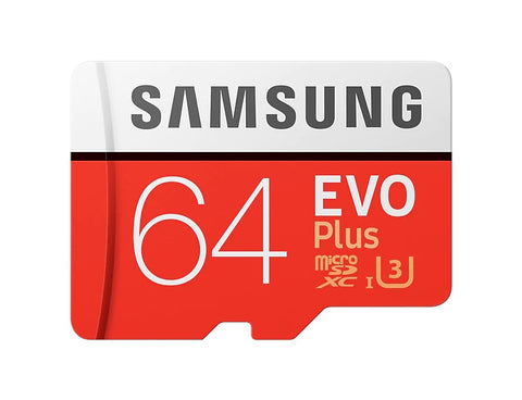 Samsung EVO Plus 64GB Micro SDXC Memory Card HDD
