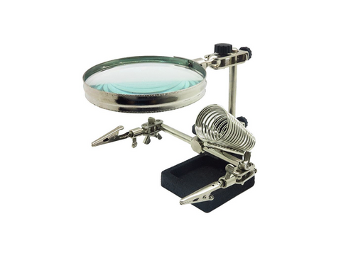 SI-105 Helping Hand Magnifier w/ Solder Stand