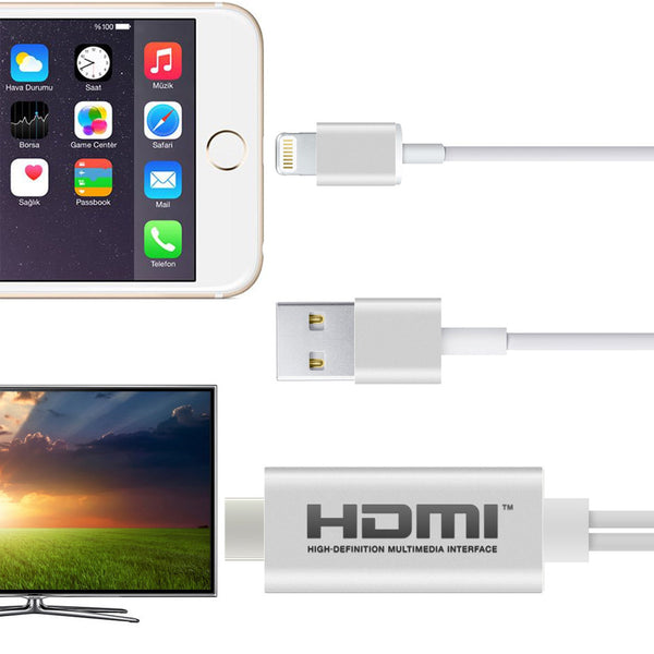 iPhone 5 6 7 and iPad Lightning to HDMI Connector/Adapter