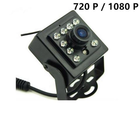 720P 1080P AHD Mini Square Camera 2.8mm Lens night version IR light