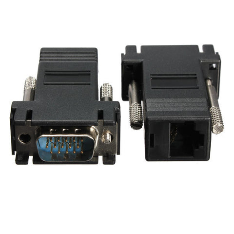 2PCS VGA Male Extender to LAN CAT5 KIT
