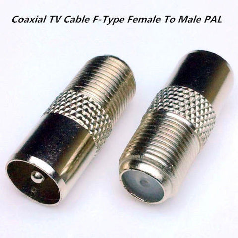 Coaxial TV Cable F Type Female To Male PAL Connector