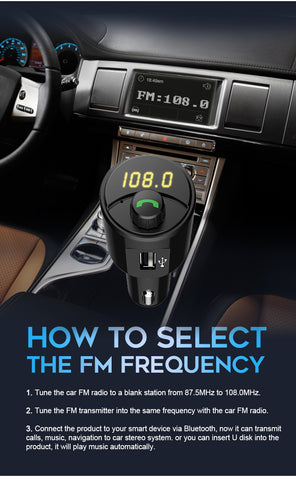 T21 Wireless Bluetooth FM Transmitter