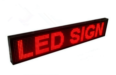 RED LED Programmable Message Sign