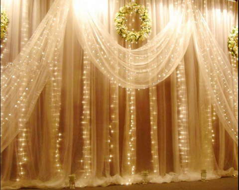 6mX3m 600 LEDS Curtain Fairy Lights