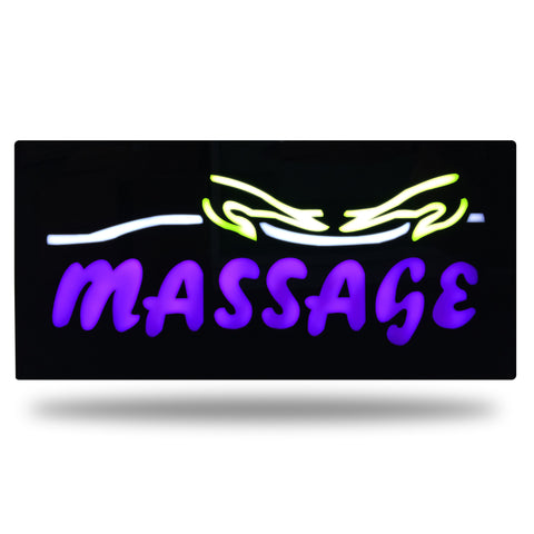 """MASSAGE"" HANDS IMAGE Beautiful Bright Neon LED Sign"