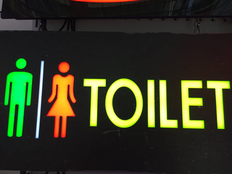 Toilet LED Sign For Restroom