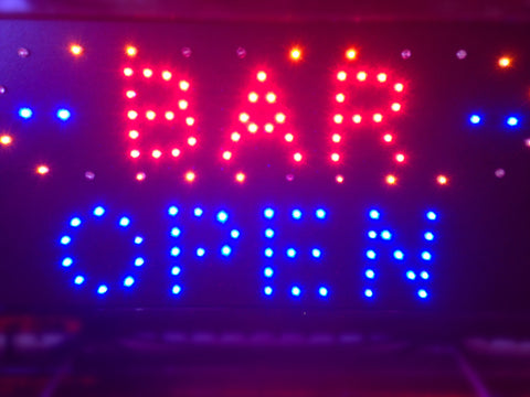 """BAR OPEN"" LED Sign"