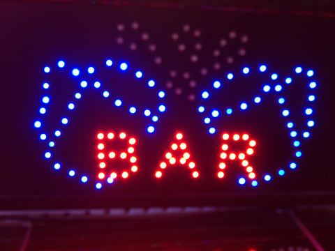 """2 CUPS BAR"" LED Sign"