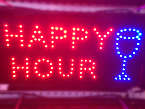 """HAPPY HOUR"" LED Sign"