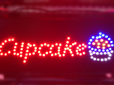 """CUP CAKE"" LED Sign"