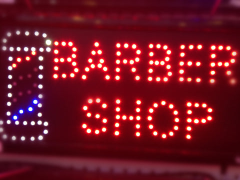 """BARBER SHOP"" LED Sign"