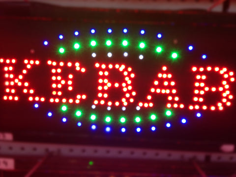"""KEBAB"" LED Sign"