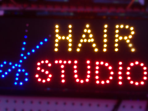 """HAIR STUDIO"" LED Sign"