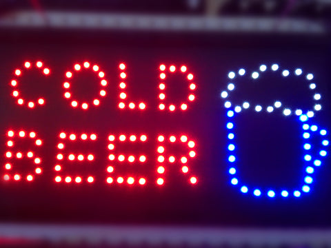 """Cold Beer"" LED Sign"