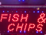 """FISH & CHIPS"" LED Sign"