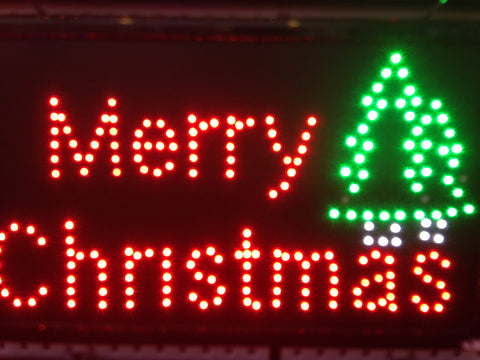 """Merry Christmas"" LED Sign"
