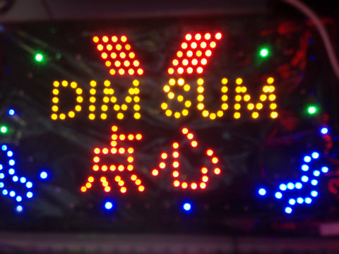 """DIM SUM"" LED SIGN"