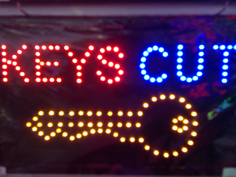 """KEYS CUT"" LED Sign"