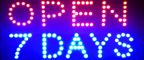 """OPEN & DAYS""LED Sign"