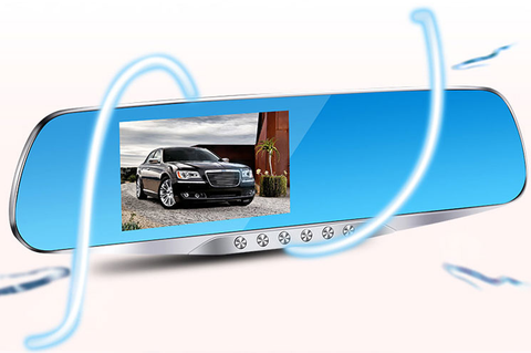 HD Dual Dashcam Car Reversing Mirror Type