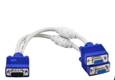 VGA Male to Dual 2 VGA Female Splitter