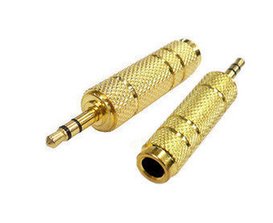 3.5mm Male to 6.5mm  Female Aux Adapter