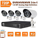 Security CCTV System FULL KIT 1TB + 4 x AHD Camera + DVR + Cables