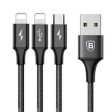 Baseus 3 in 1 Charging Cable iP + iP + Micro USB