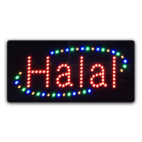 "Epoxy Resin LED ""Halal"" Sign"