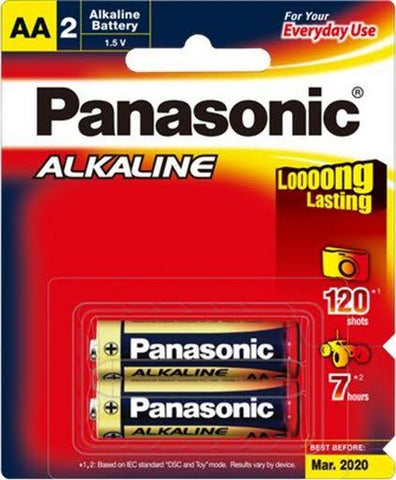 2 Pcs Panasonic AA Battery