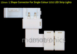 10mm L Shape Connector For Single Colour 5050 LED Strips