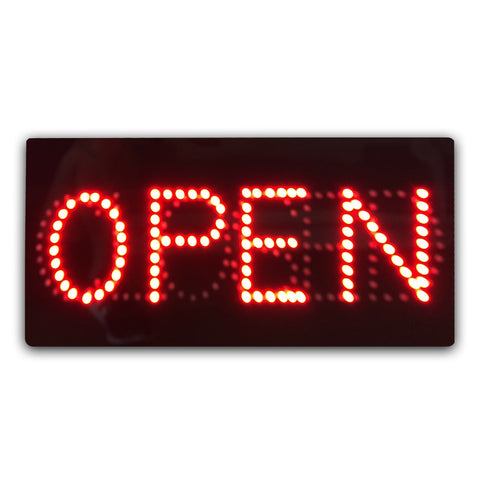 Switchable Epoxy Resin LED OPEN / CLOSED Sign