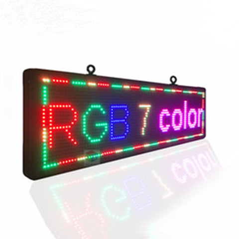 7 Color programmable LED message sign