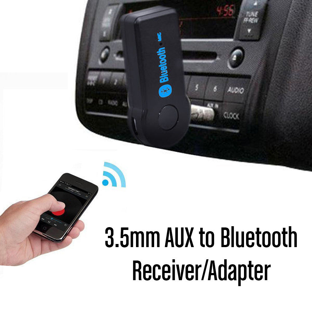 car aux to bluetooth receiver adapter evertronics. Black Bedroom Furniture Sets. Home Design Ideas