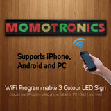 WiFi 3 Colour LED Programmable Message Sign