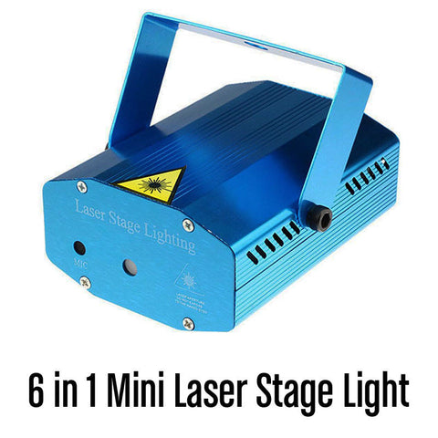 6 in 1 Mini Laser Stage Lighting